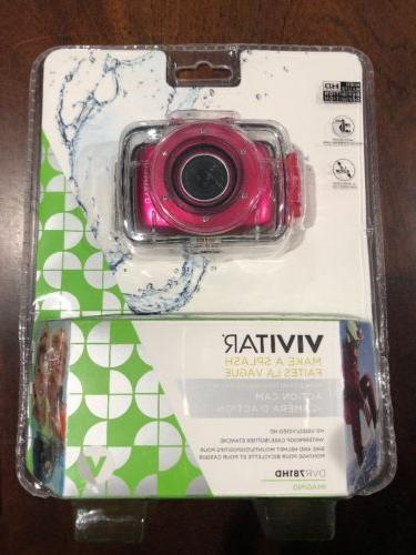 Vivitar HD Action Waterproof Camera / Camcorder - Hot Pink D