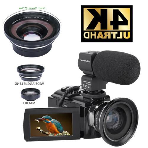 hd digital 4k camcorder 16x zoom wifi