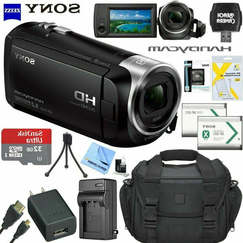 hd video recording handycam camcorder hdrcx405 bundle