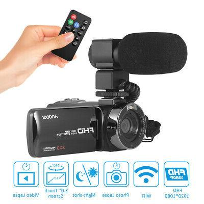 Andoer HD WiFi Digital Video Camera Camcorder Recorder With