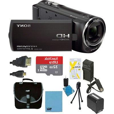 Sony HDR-CX405/B Full HD 60p Camcorder with Deluxe Bundle -