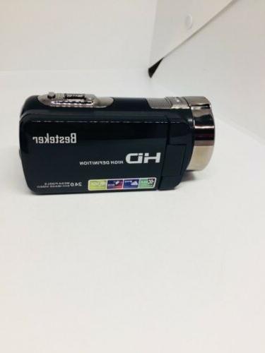 Besteker HDV-312p video camera x full HD, Black
