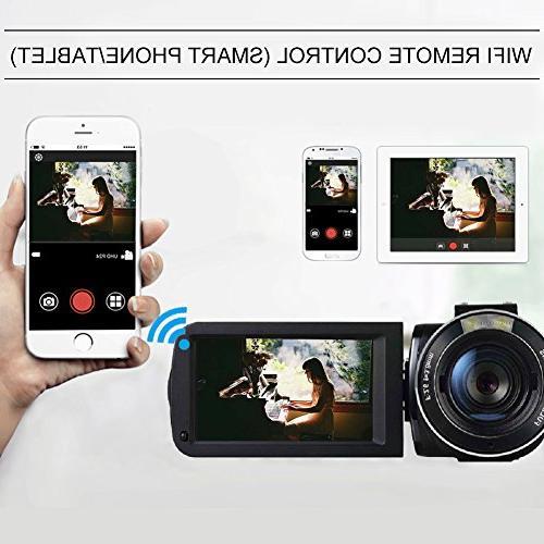 SEREE HDV-520 External Microphone Jack Input FHD Screen 16X Digital Camera Recorder
