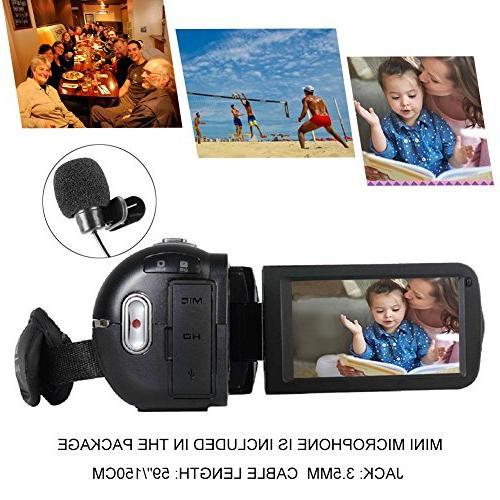 SEREE External Microphone FHD 1080p 24.0MP Screen Digital Zoom Digital Camera