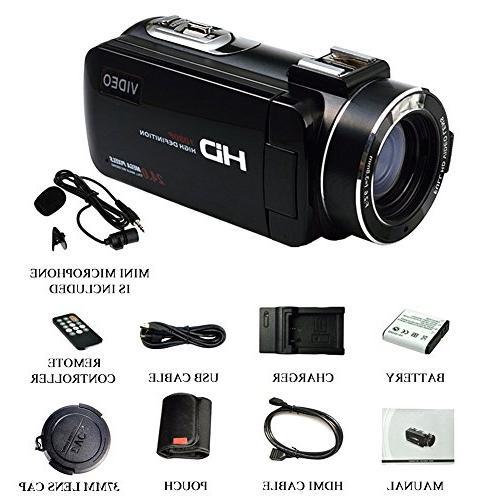 SEREE HDV-520 Camcorder External FHD 1080p 24.0MP Screen Digital Camera Recorder