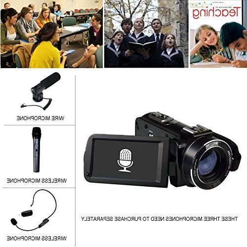 SEREE HDV-520 Camcorder External FHD 1080p 24.0MP Screen 16X Digital Digital Camera Video