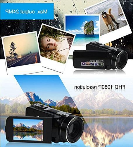 SEREE HDV-M06 Video Camcorder Digital Zoom Timer Beauty Camera HDMI Output
