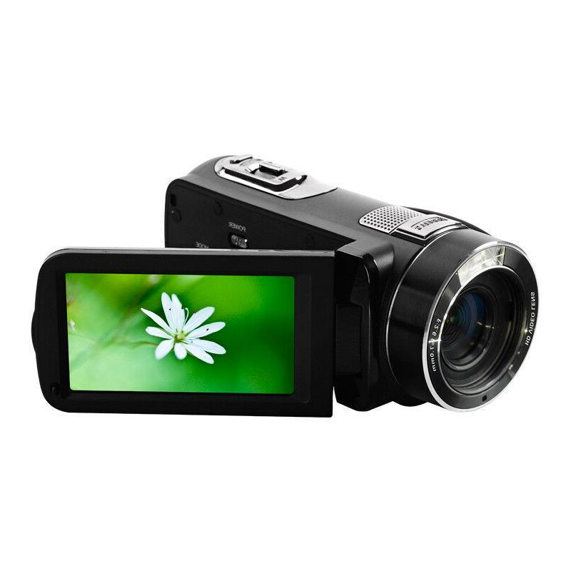 "FULL HD 24MP 3"" LCD Digital DV Camera Camcorder Anti-Shake"