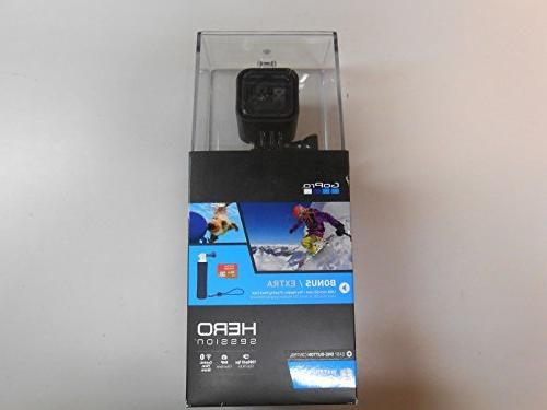 NEW-SEALED GoPro HERO Session Bundle with Floating Hand Grip