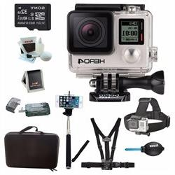 GoPro HERO4 BLACK Edition Camera HD Camcorder With Sony micr