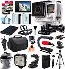 GoPro HERO4 Hero 4 Black Edition + 96GB + LCD Display + Case