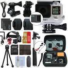 GoPro HERO4 Silver Waterproof Camera Camcorder + 2 Batteries