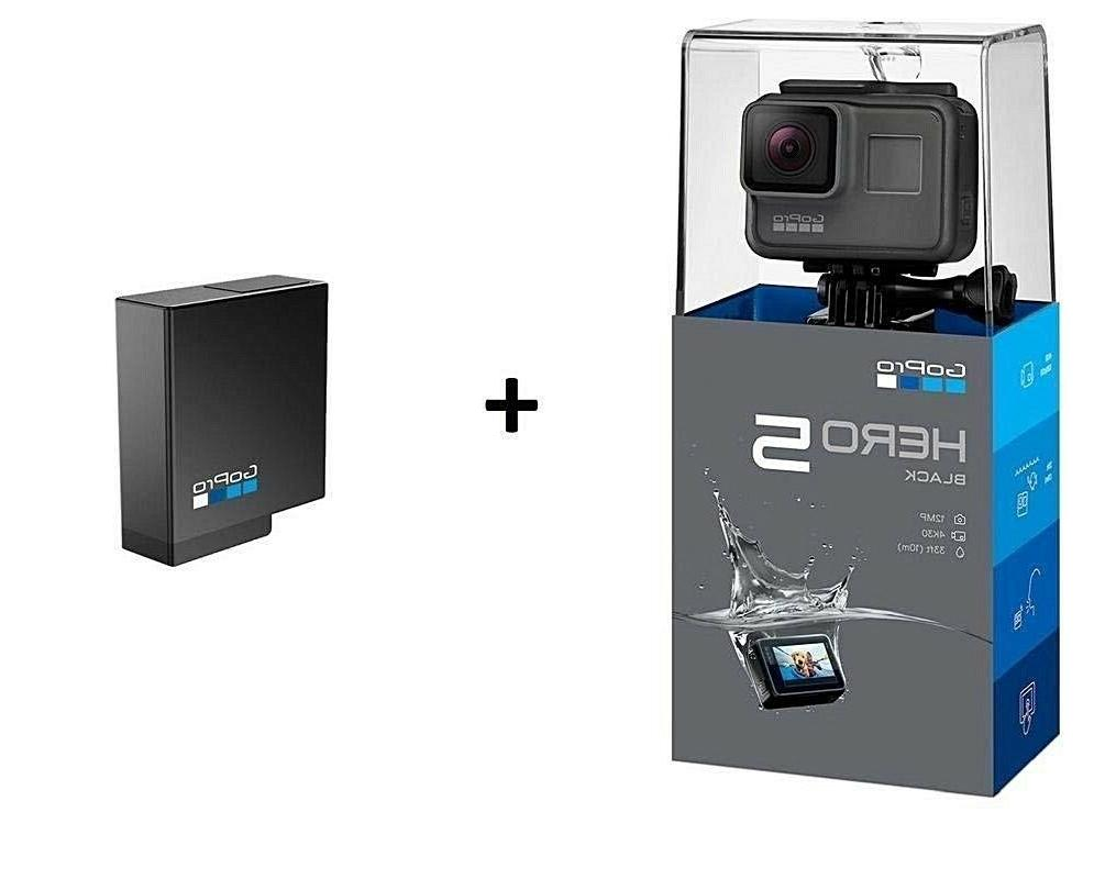 hero5 black camera bundle with battery action