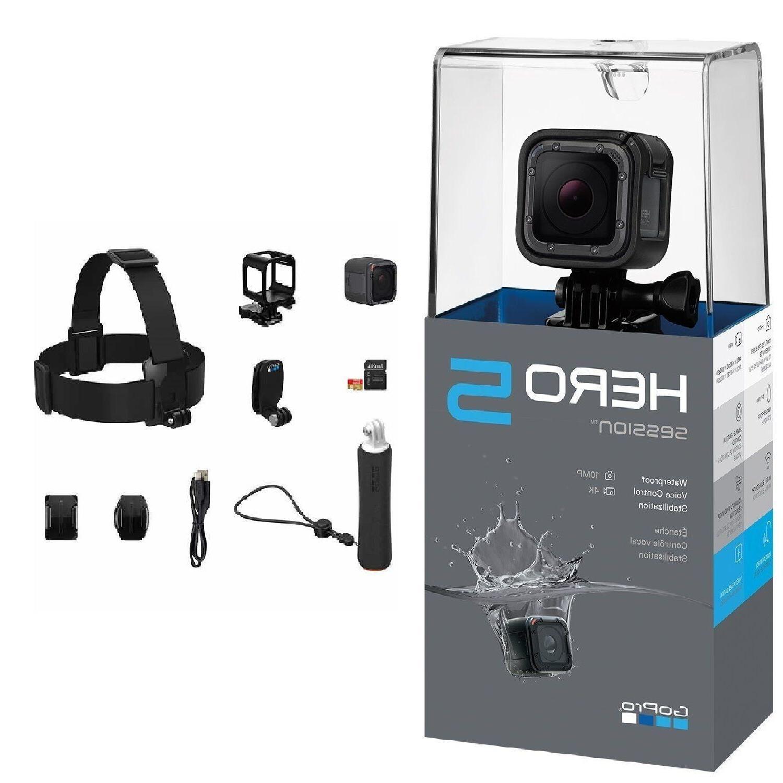 GoPro HERO5 Session 4K 10MP  + 32GB Pro Accessory Bundle Kit