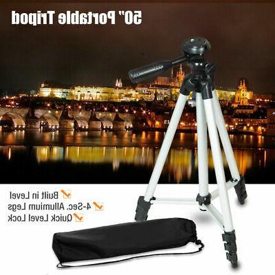 50inch Universal Portable Tripod Stand + Bag for Canon Nikon