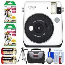 Bundle Fujifilm Instax Mini 70 Instant Film Camera - Camera,