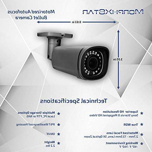 MorphXStar 4K Security High Definition & Waterproof IR Vision Motorized Zoom Bullet Camera