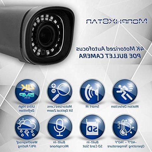 MorphXStar IP Sony Starvis Sensor High Definition with & Audio IP67 Waterproof IR Night 5X Motorized Optical Camera