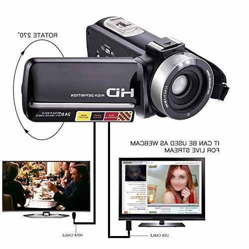 GordVE KG003 Video 1080P 16X 3 Inch Touch Portable