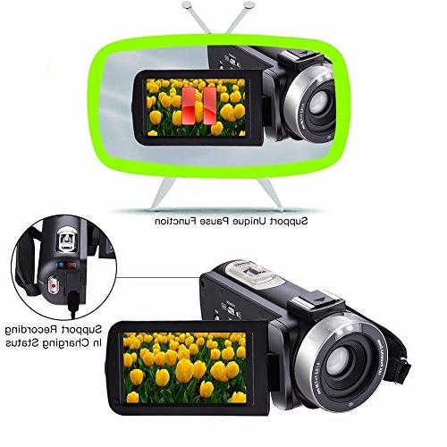 GordVE KG003 Video Camera 1080P Portable Camcorder With