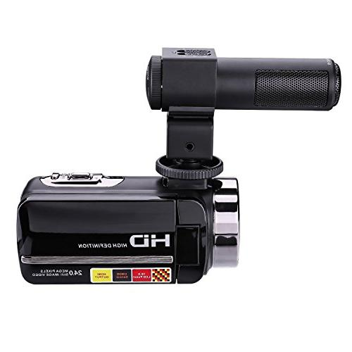 GordVE Video Camera 1080P 16X 3 Touch Screen Portable LCD HDV Video Camcorder Microphone