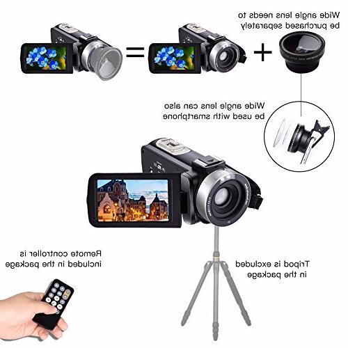 GordVE KG003 Night Vision Video Camera ,HDV-301M 1080P 16X 3 Touch Portable LCD HDV Camcorder Microphone