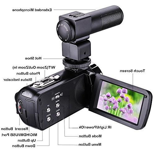 GordVE Vision Video PDK05 1080P 16X 3 Touch Portable Camcorder