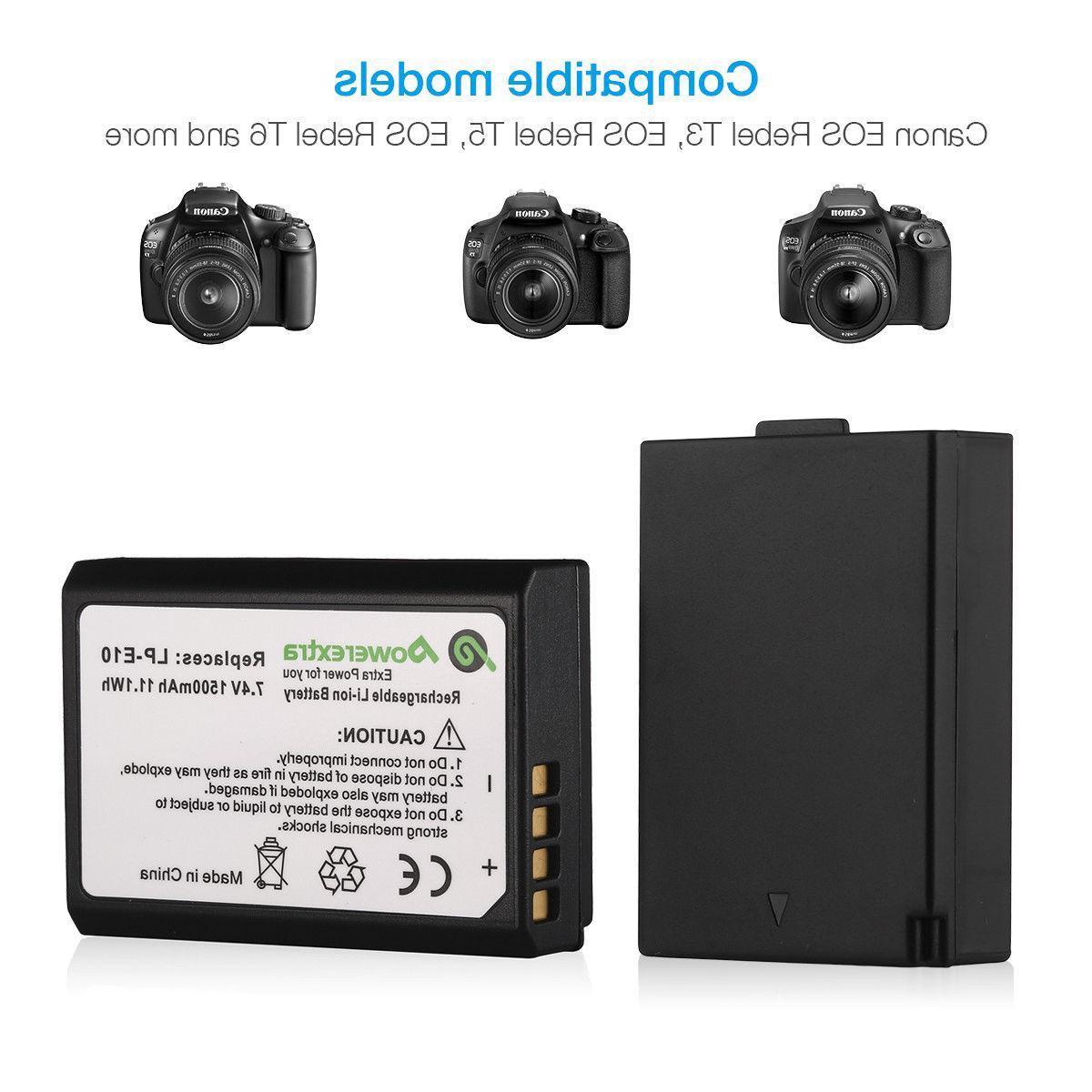 LP-E10 Battery For Canon Rebel T3 T6 T5