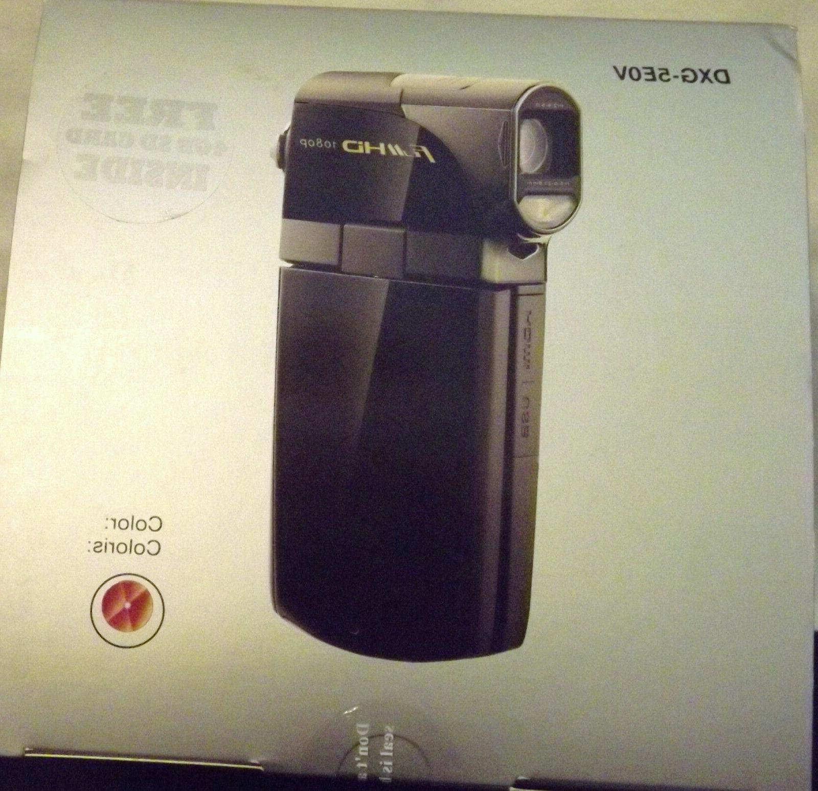 DXG LUXE COLLECTION 1080P HP CAMCORDER 5X OPTICAL ZOOM NEW S