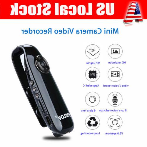 HD 1080P 90° Mini Camcorder Dash Cam Police Body Motorcycle