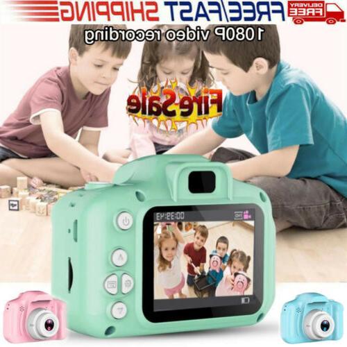 US STOCK Kids Digital Camera HD 1080P Support 32G Video Camc