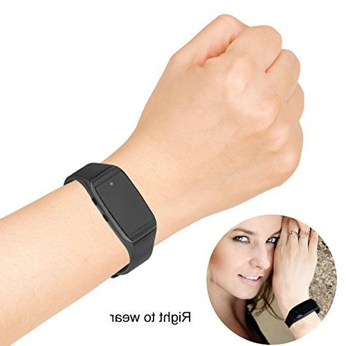 Mini Hidden Camera,Haoweiming Spy Camera Wristband Sports Portable Camcorder with No-Hole Camera Design