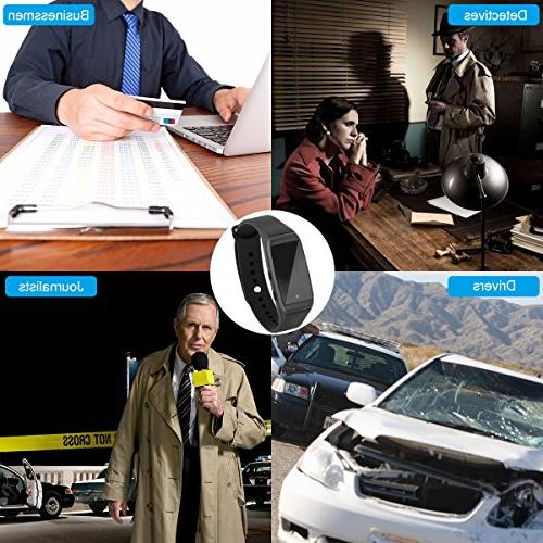 Mini Hidden Spy Camera Rechargeable Wristband Camcorder with Camera Design