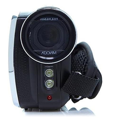 Minolta 1080p HD Video Camcorder Includes 8GB Card