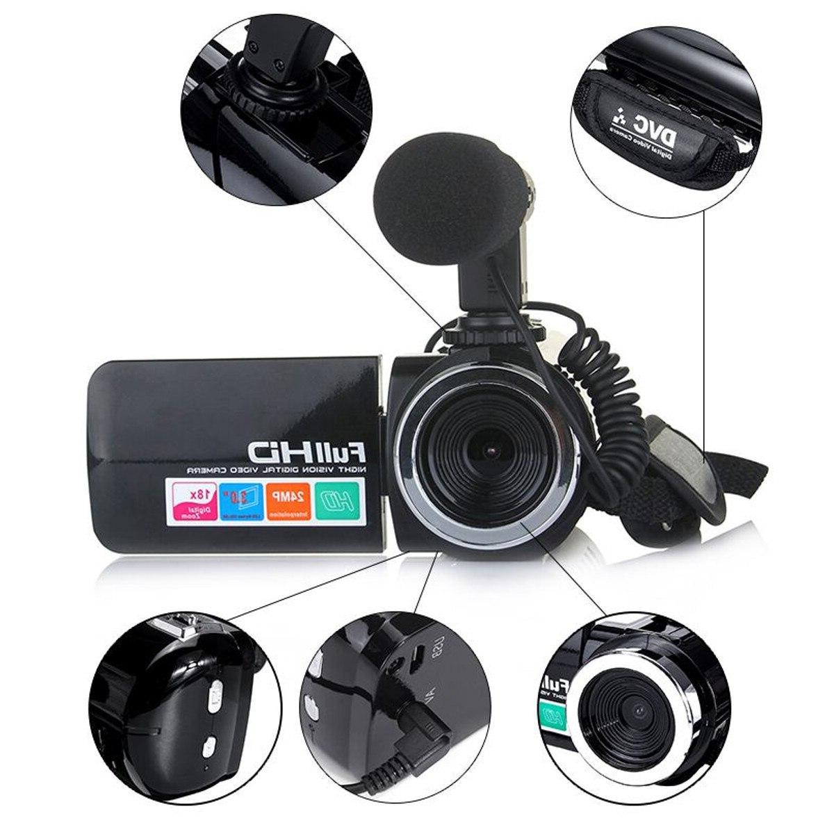 Multifunctional Camcorder <font><b>Video</b></font> 1080P 18X Mic