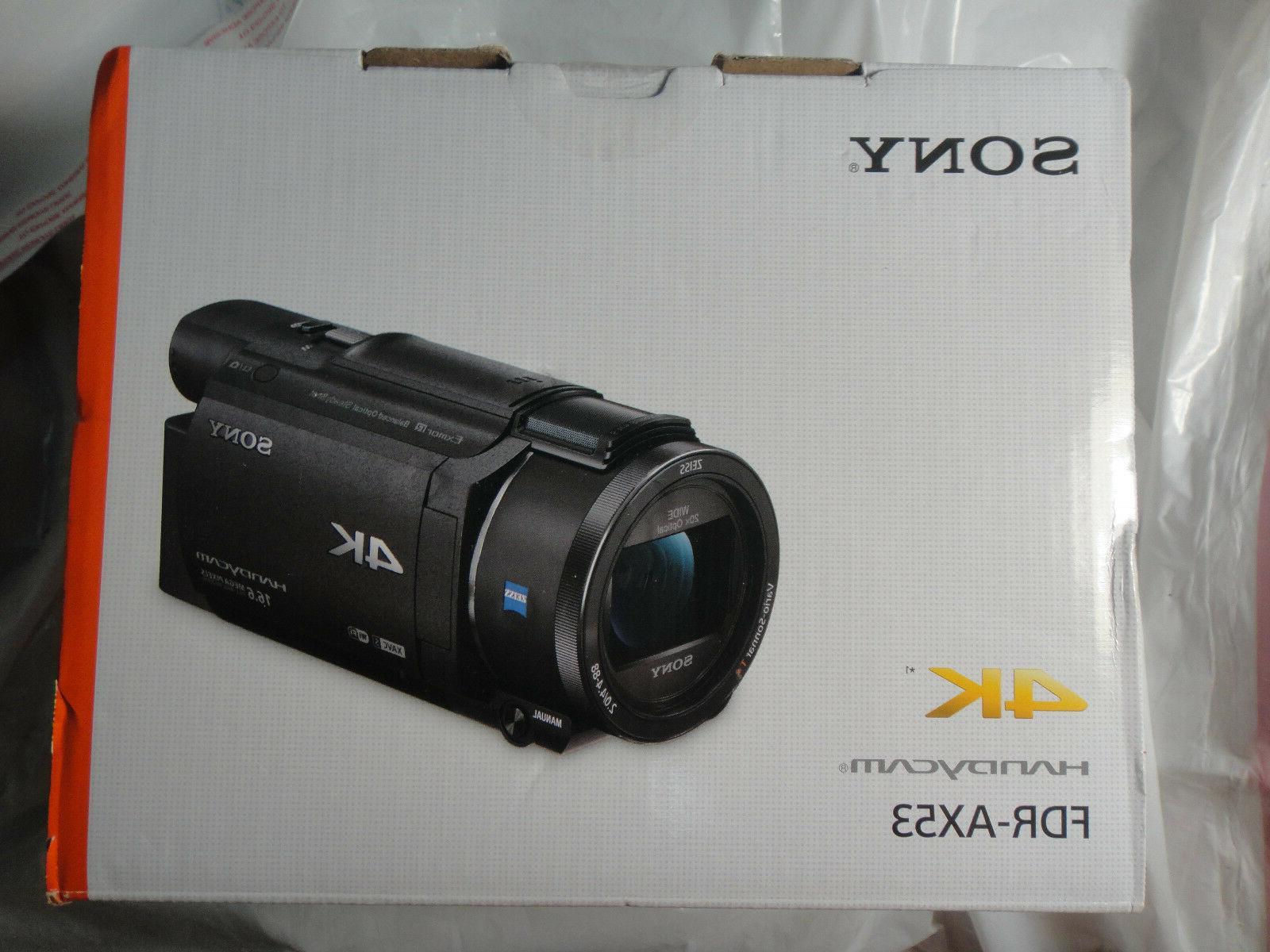 new fdr ax53 4k handycam video camera