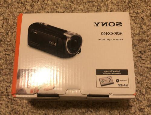 new handycam hdr cx440 1080p hd 8gb