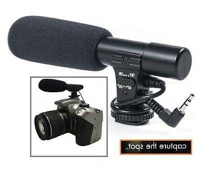 Professional Mini Condenser Microphone For Camera Camcorder