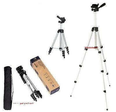 O90 Universal Aluminum Portable Tripod Stand Camera W/ Bag C