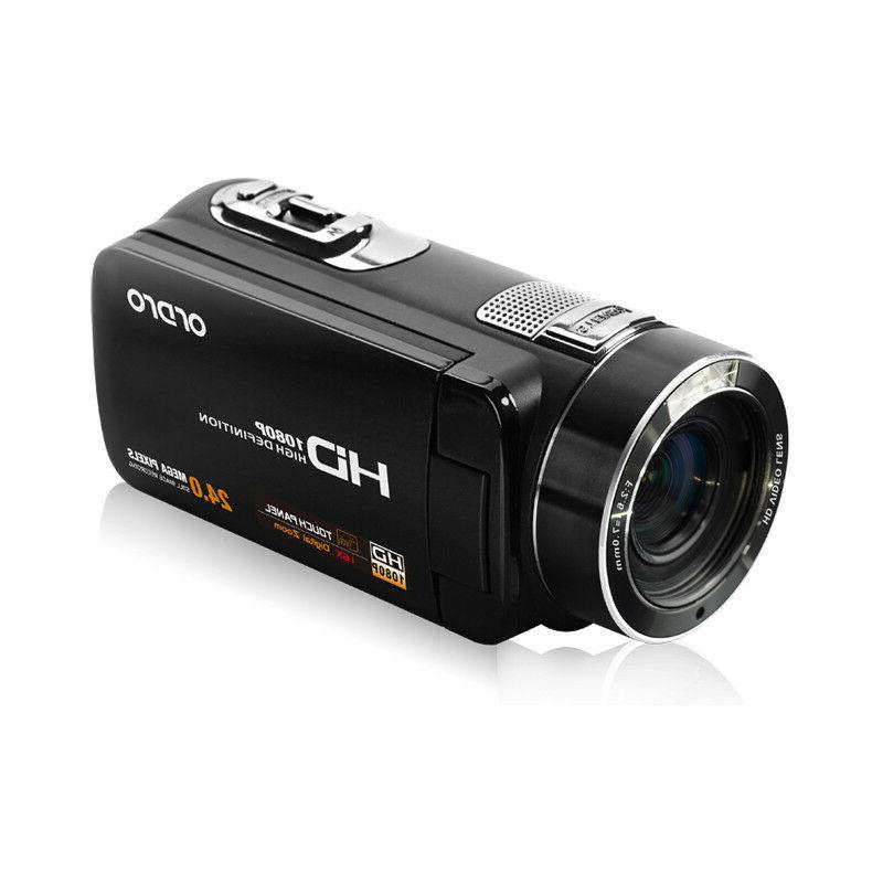 "FULL HD 3"" LCD 16X Digital Camcorder Anti-Shake"