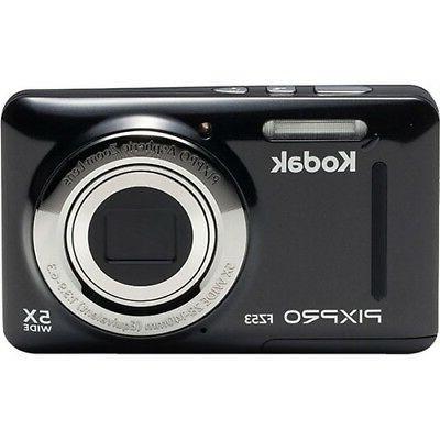 Kodak PIXPRO FZ53 16.2 Megapixel Compact Camera - Black - 2.