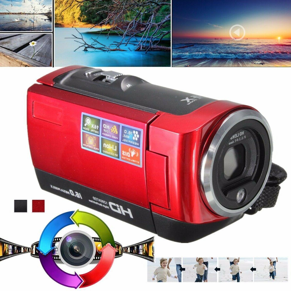 Portable Video DV Camcorder 16MP Zoom & Kit