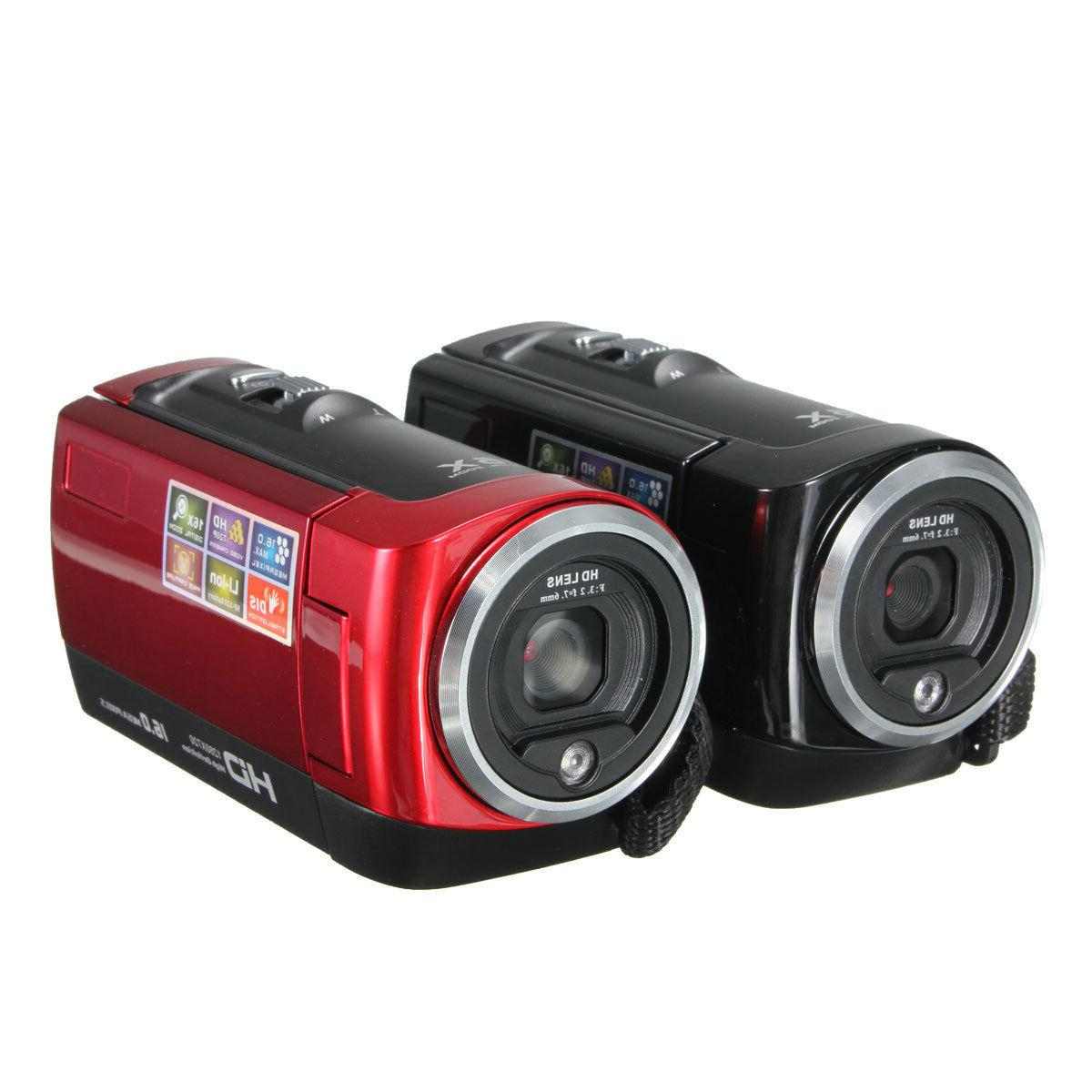 Portable 16X Video Camera Camcorder 16MP Zoom & Kit