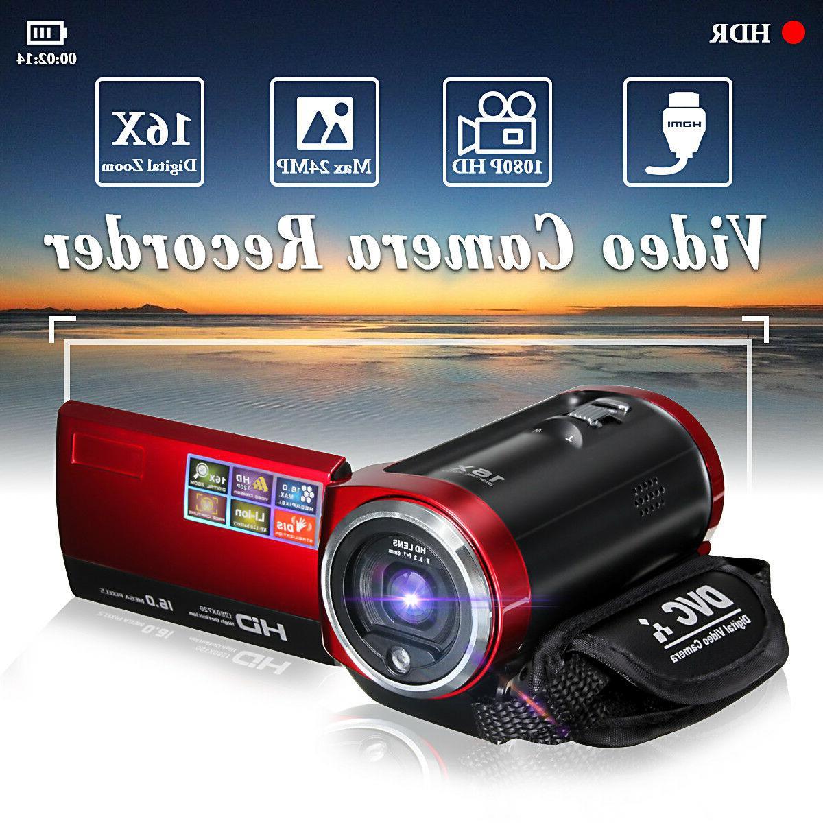 portable hd 16x digital video camera dv