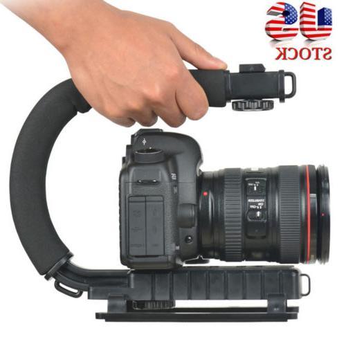 pro video stabilizer camera dslr handle grip