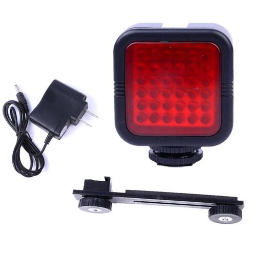 rechargeable video light 36 led ir infrared