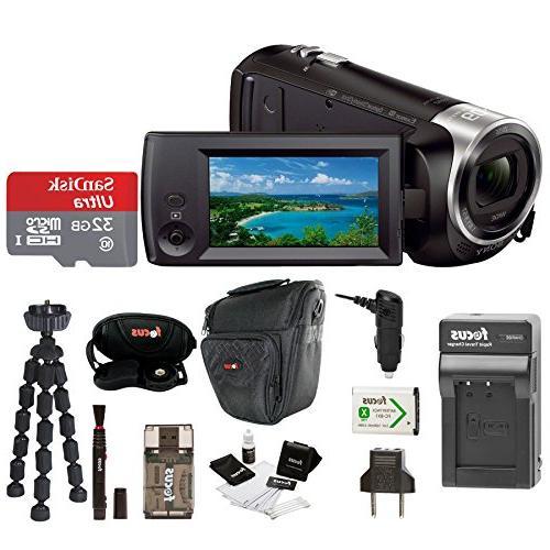 recording hdrcx440 hdrcx440b handycam camcorder