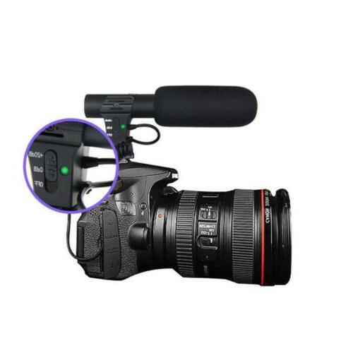 3.5mm External Stereo Microphone For Canon Nikon DSLR Camera