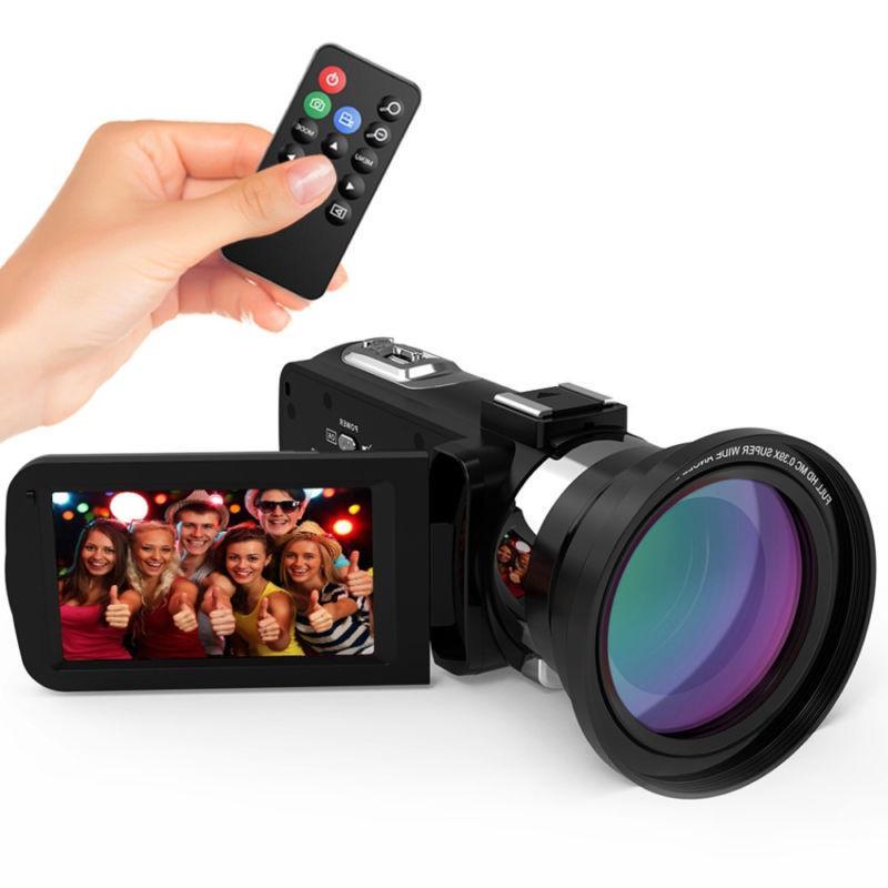 WiFi ULTRA 1080P 48MP Video Camera Camcorder DV+Mic+Lens