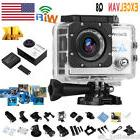 "2"" Ultra HD 1080P 4K 16MP WiFi Action DV Camcorder Waterproo"